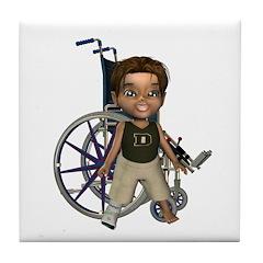 Karlo Broken Right Leg Tile Coaster