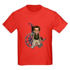 Karlo Broken Right Leg Kids Dark T-Shirt