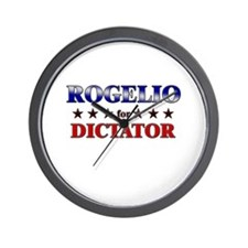 ROGELIO for dictator Wall Clock