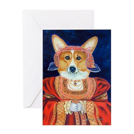 Corgi Queen Greeting Card