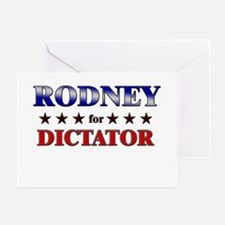 RODNEY for dictator Greeting Card