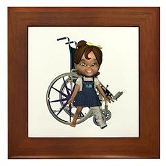 Katrina Broken Left Leg Framed Tile
