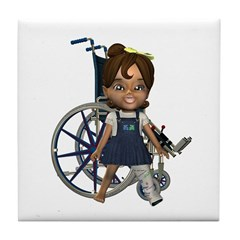 Katrina Broken Left Leg Tile Coaster
