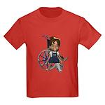 Katrina Broken Left Leg Kids Dark T-Shirt