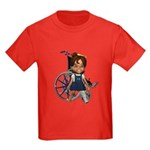 Katrina Broken Left Leg Kids Dark T-Shirt