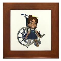 Katrina Broken Right Leg Framed Tile