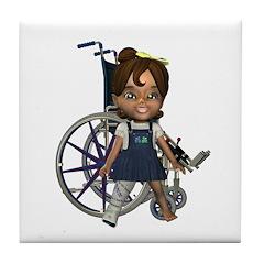 Katrina Broken Right Leg Tile Coaster
