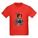 Katrina Broken Right Leg Kids Dark T-Shirt