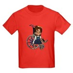Katrina Broken Right Arm Kids Dark T-Shirt
