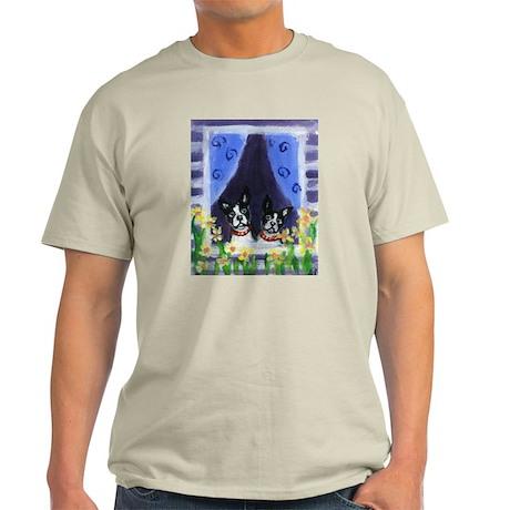 BOSTONS in Window Design Ash Grey T-Shirt