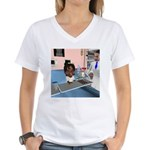Katy Sick Women's V-Neck T-Shirt