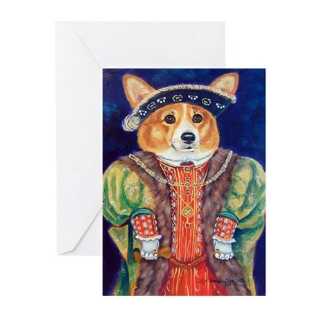 Corgi King Greeting Cards (Pk of 10)