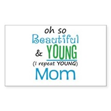 Beautiful and Young Mom Rectangle Decal