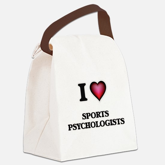 I love Sports Psychologists Canvas Lunch Bag
