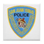 San Juan Indian Police Tile Coaster