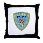 San Juan Indian Police Throw Pillow