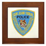 San Juan Indian Police Framed Tile