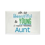 Beautiful and Young Aunt Rectangle Magnet (100 pac