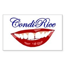CONDI RICE SMILE Rectangle Decal