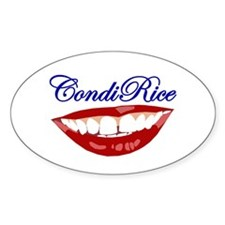 CONDI RICE SMILE Oval Decal