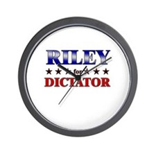 RILEY for dictator Wall Clock