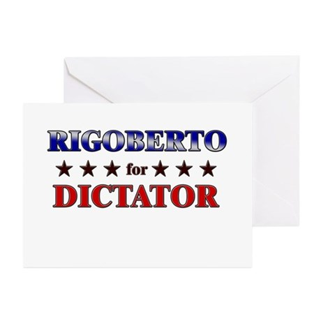 RIGOBERTO for dictator Greeting Cards (Pk of 20)