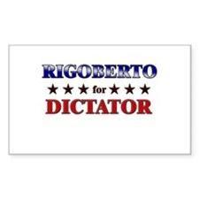 RIGOBERTO for dictator Rectangle Decal