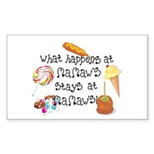 What happens at Mamaw's... Rectangle Decal