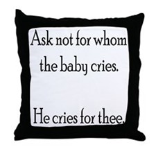 Attached parenting Throw Pillow