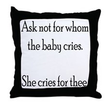 Funny Attached parenting Throw Pillow