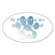 Irish Wolfhound Grandchildren Oval Decal