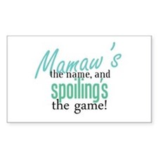 Mamaw's the Name! Rectangle Decal