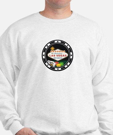 Las Vegas Poker Chip Design Sweatshirt