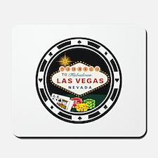 Las Vegas Poker Chip Design Mousepad