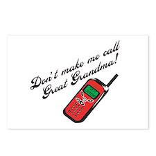 Don't Make Me Call Great Grandma! Postcards (Packa