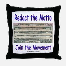 Redact the Motto Throw Pillow