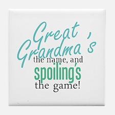 Great Grandma's the Name Tile Coaster