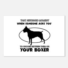Boxer Dog Awesome Designs Postcards (Package of 8)