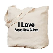 i love Papua New Guinea Tote Bag