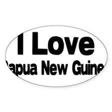 i love Papua New Guinea Oval Decal
