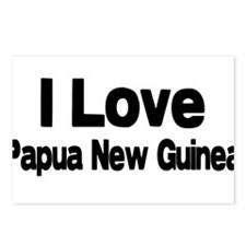 i love Papua New Guinea Postcards (Package of 8)