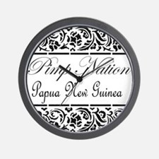 Pimp nation Papua New Guinea Wall Clock