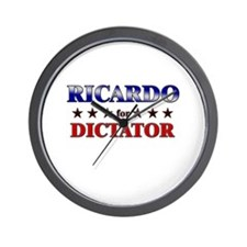 RICARDO for dictator Wall Clock
