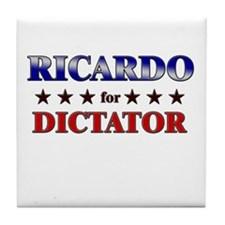 RICARDO for dictator Tile Coaster