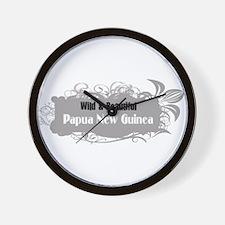 Wild Papua New Guinea Wall Clock