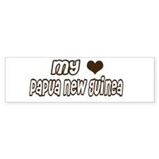 my heart Papua New Guinea Bumper Bumper Sticker