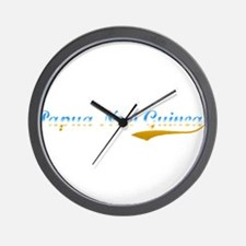 Papua New Guinea beach flange Wall Clock