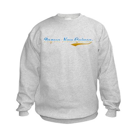 Papua New Guinea beach flange Kids Sweatshirt