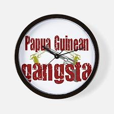 Papua New Guinean gangsta Wall Clock