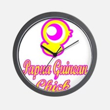 Papua New Guinean chick Wall Clock